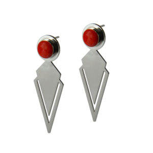Le Figaro big earrings ZOOM red